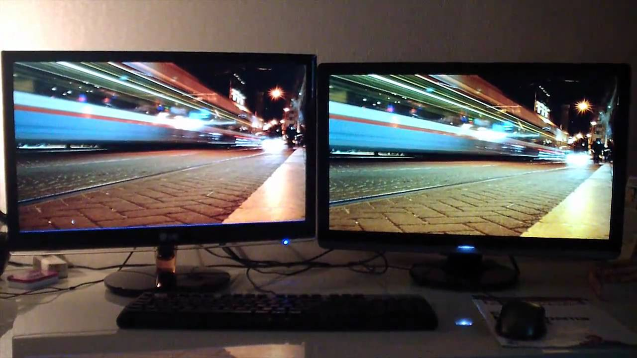 Lg Ips 236v Monitor Unboxing And Review Video Vs Tn