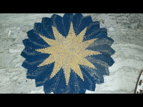 How to Make doormat  from using old  Saree  at home .doormat design  you never see  any tutorial.