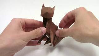 Origami Cat Gato ( REMAKE ) - Yakomoga easy Origami tutorial