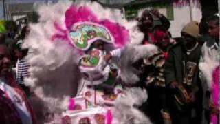 Pt 1 Second and Dryades: Mardi Gras Indian Battle 2010