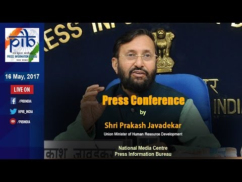 Press Conference by Union Minister Prakash Javadekar on Key Initiatives during 3 Years of Govt.