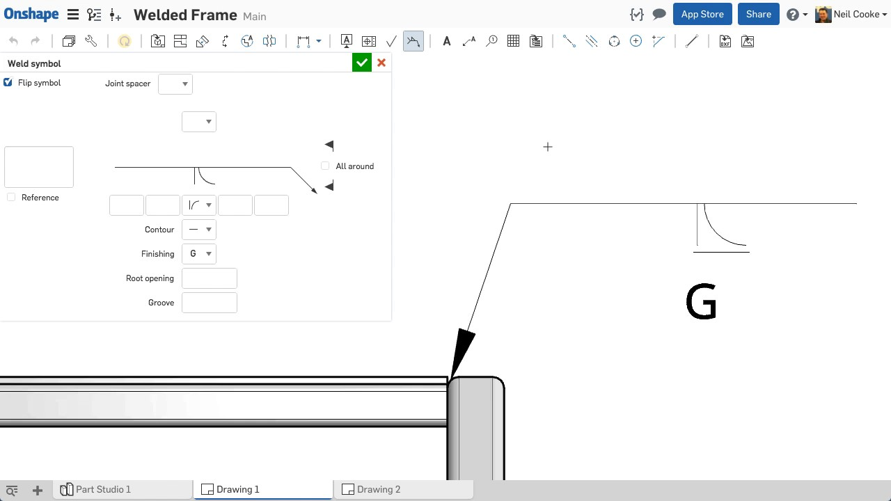 Welding symbols and their meanings choice image symbol and sign whats new in onshape june 12th 2017 weld symbols youtube whats new in onshape june 12th biocorpaavc Images