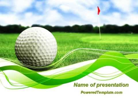 Ball for golf powerpoint template by poweredtemplate youtube toneelgroepblik Gallery