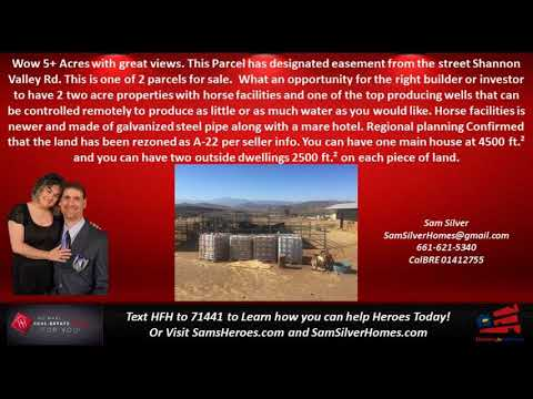 The Best Acton Land Prices - Call, Text Sam Silver HomeSmart NCG 661-621-5340