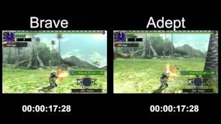 [MHXX] HBG Brave VS Adept - 60 Shot Fire Rate Test