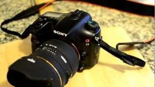 مراجعه للكاميرا سوني Sony A77