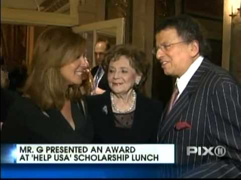 WPIX Ch 11  Mr. G Presents Award at HELP USA's Annual Scholarship Awards Luncheon