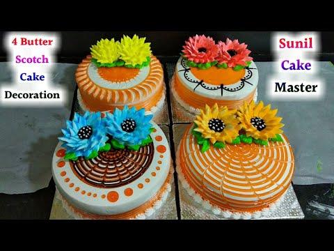 top 4 amazing cake decorating ideas butterscotch cake orenze gel Cake Making By Sunil Cake Master