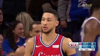 Ben Simmons  19pts 9asts FULL Highlights vs the Pistons in 23 minutes of action *so smooth! thumbnail