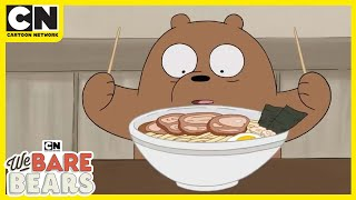 We Bare Bears | Bears Eating Ramen | Cartoon Network UK