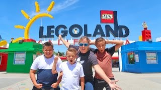 LEGOLAND Lego Kingdom Theme Park Tour with Carl and Jinger Family!!