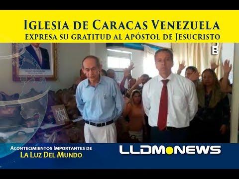 Iglesia de Caracas Venezuela expresan su gratitud al Apóstol de Jesucristo.