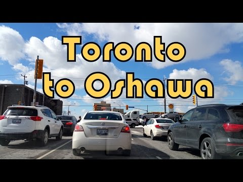Driving on Highway 401 East from Toronto (North York) to Oshawa