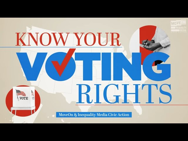Know Your Voting Rights | Robert Reich