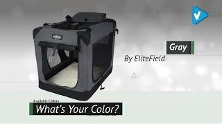 EliteField 3-Door Folding Soft Dog Crate, Indoor & Outdoor Pet Home, Multiple Sizes And Colors