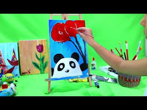 panda-acrylic-painting-on-canvas-for-beginners-/easy-acrylic-painting-ideas/-painting-for-kids