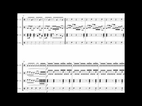 CC Cadence #3 - Drumline Cadence - Sheet Music by AtomicTater