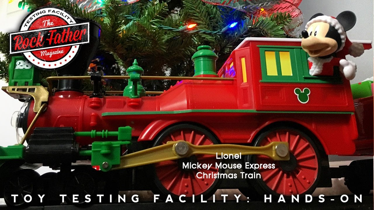 hands on lionel mickey mouse express ready to play christmas train