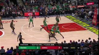 1st Quarter, One Box Video: Atlanta Hawks vs. Boston Celtics