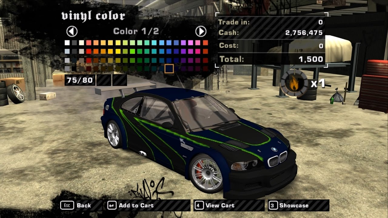 Need For Speed Most Wanted 2005 Bmw M3 Gtr E46 Vinyls Youtube