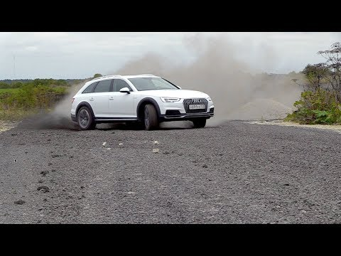 Hooning around in B9 Audi A4 Allroad Quattro #2, Driving Footage, Exterior,  Powersliding in Slow Mo
