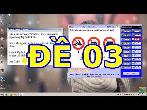 Mẹo thi bằng lái xe A1- 150 câu hỏi thi bằng lái xe A1 (Đề số 3 có tiếng) thibanglaixehn.com