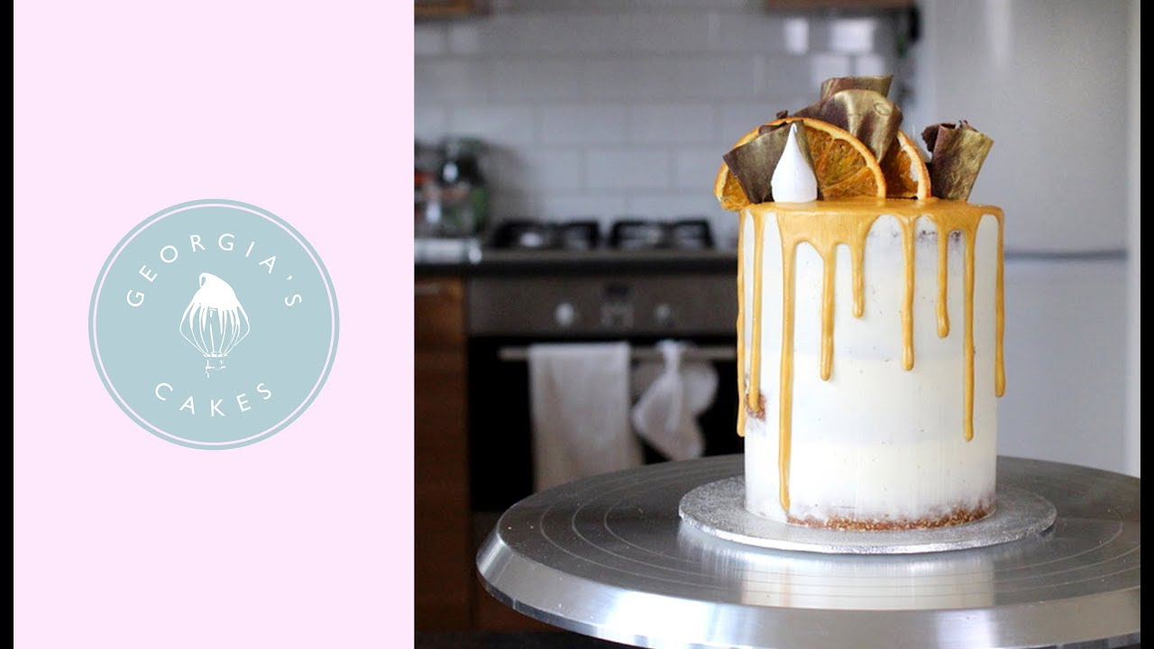 How To Make A Gold Drip Cake | Georgia's Cakes