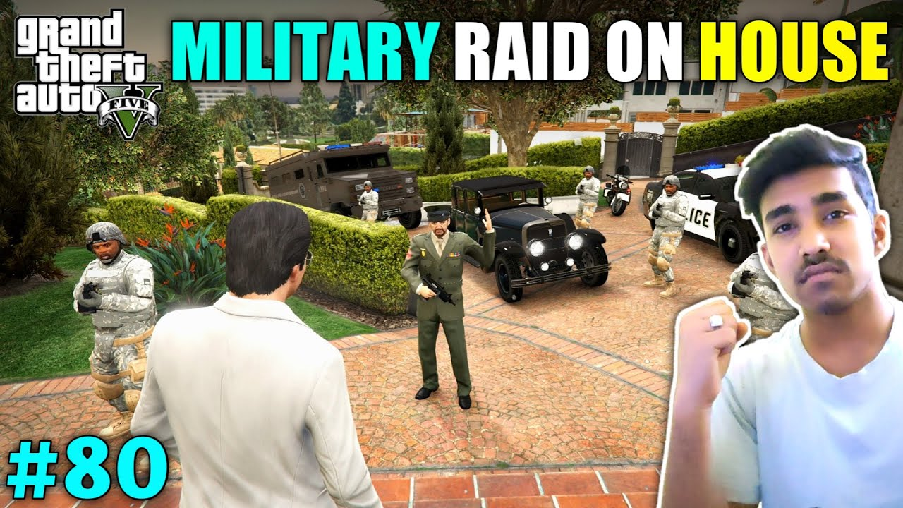 NEW MILATIRY COLONEL RAID ON MY HOUSE | GTA V GAMEPLAY #80 thumbnail