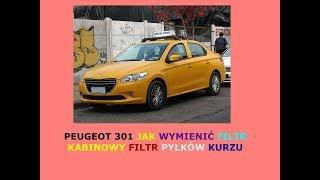 Peugeot 301 Jak wymienić filtr kabinowy filtr pyłków kurzu