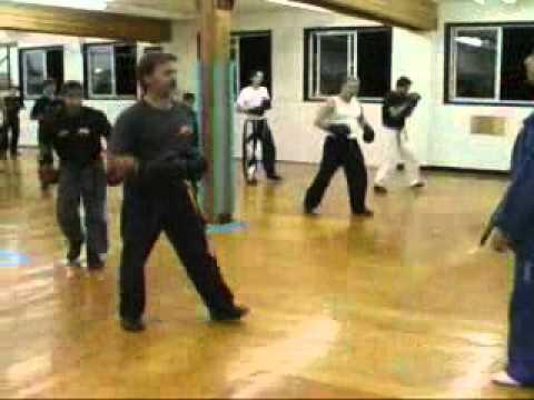 Master Farid Spinning Hook kick tips at Champions Martial Arts Academy in North Vancouver