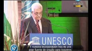 Visión Siete: Francia: Por primera vez, Palestina izó su bandera en un organismo de la ONU