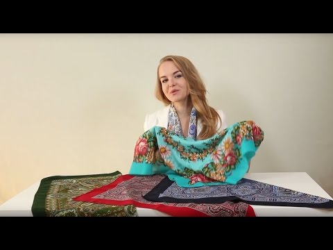 Как красиво повязать посадский платок