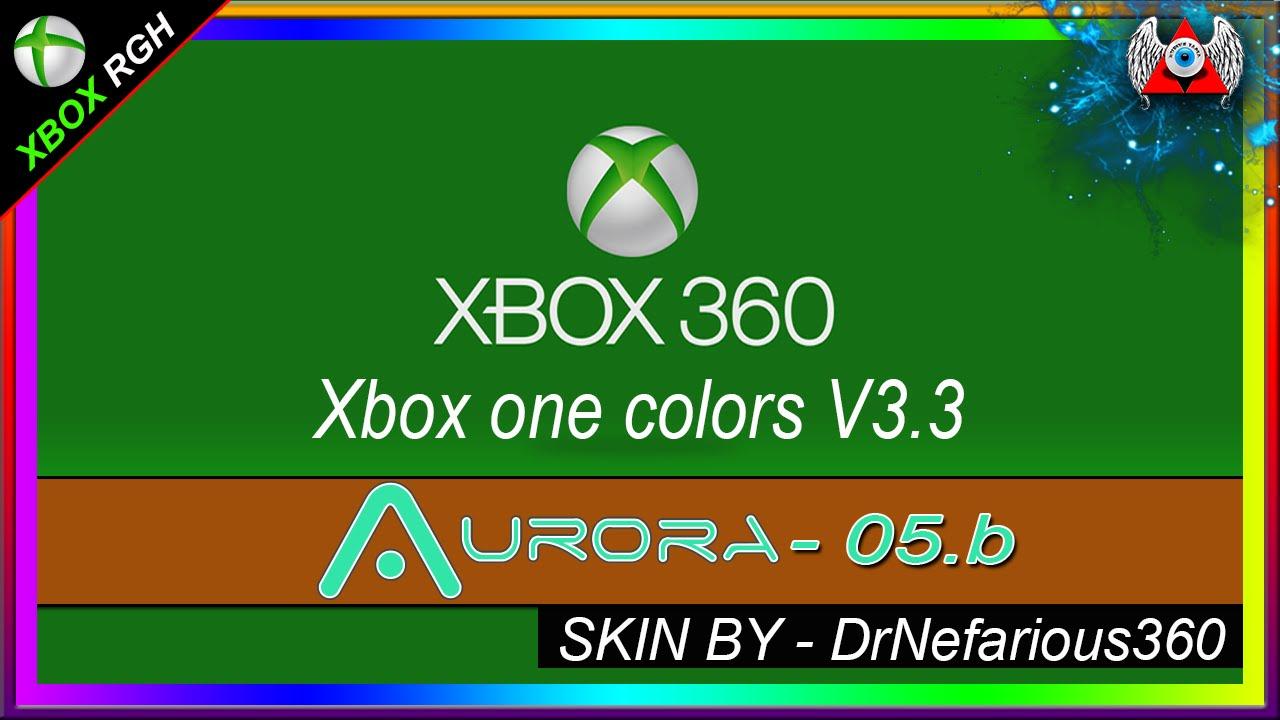 Foyer Colors Xbox One : Skin aurora b xbox one colors v para rgh youtube