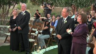 Surprise vow renewal for parents at daughter's wedding