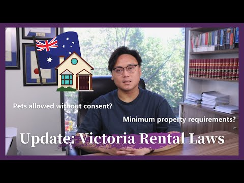 2021 UPDATED Victoria Rental Laws: Household Minimum requirements? Pets Allowed without Consent?