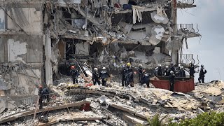 video: Miami building collapse: human remains found on site with 159 still missing