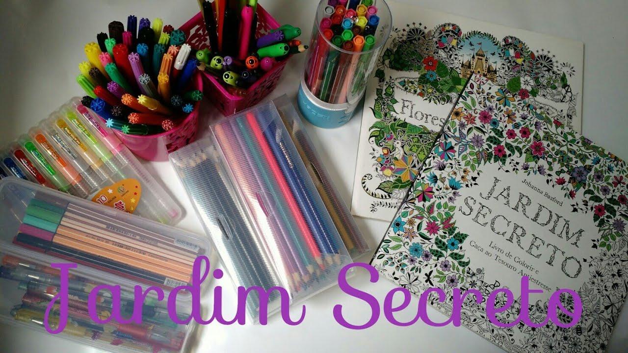Livro De Colorir Jardim Secreto E Floresta Encantada
