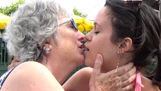 Repeat youtube video Daughter Kissing Mother PRANK!