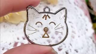 Мордочка кошки из УФ смолы
