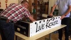 Tischkicker - Livekicker - Videoaufbauanleitung - Teil 1 - Korpus - Izzy Sport