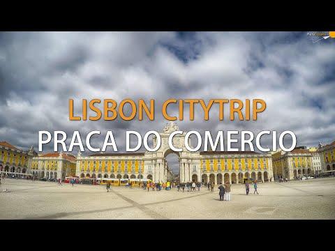 Lisbon citytrip | Day 1 | Praca do Comercio timelapse (4K)