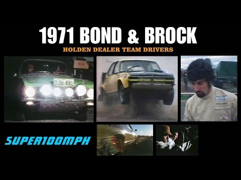 1971 BOND & BROCK Holden Dealer Team Drivers