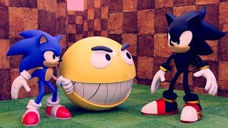 Pacman and Sonic vs Shadow