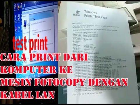 Cara menghubungkan mesin fotocopy ke komputer dengan kabel lan ...