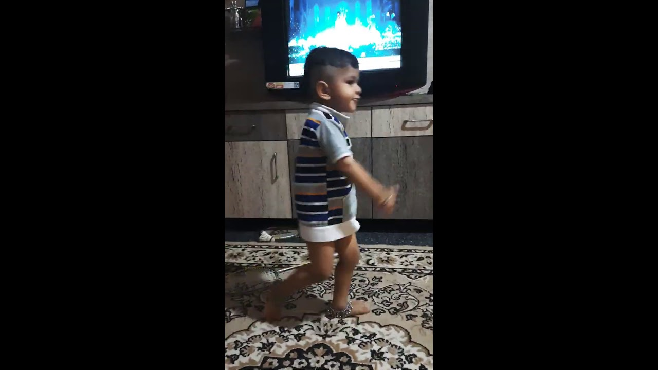 After watching Prabu deva in tv😄😄#kidsdance