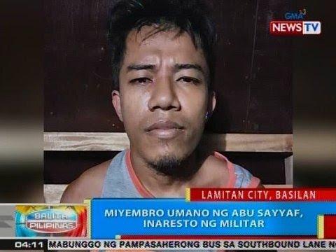 BP: Miyembro umano ng ASG, inaresto ng militar sa Lamitan City, Basilan