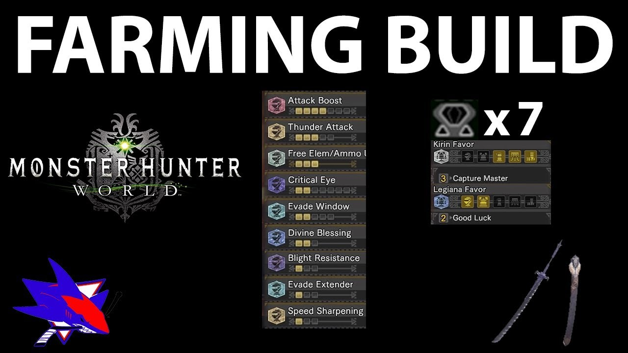 Monster Hunter World Fastest Material Farm Build - RBS