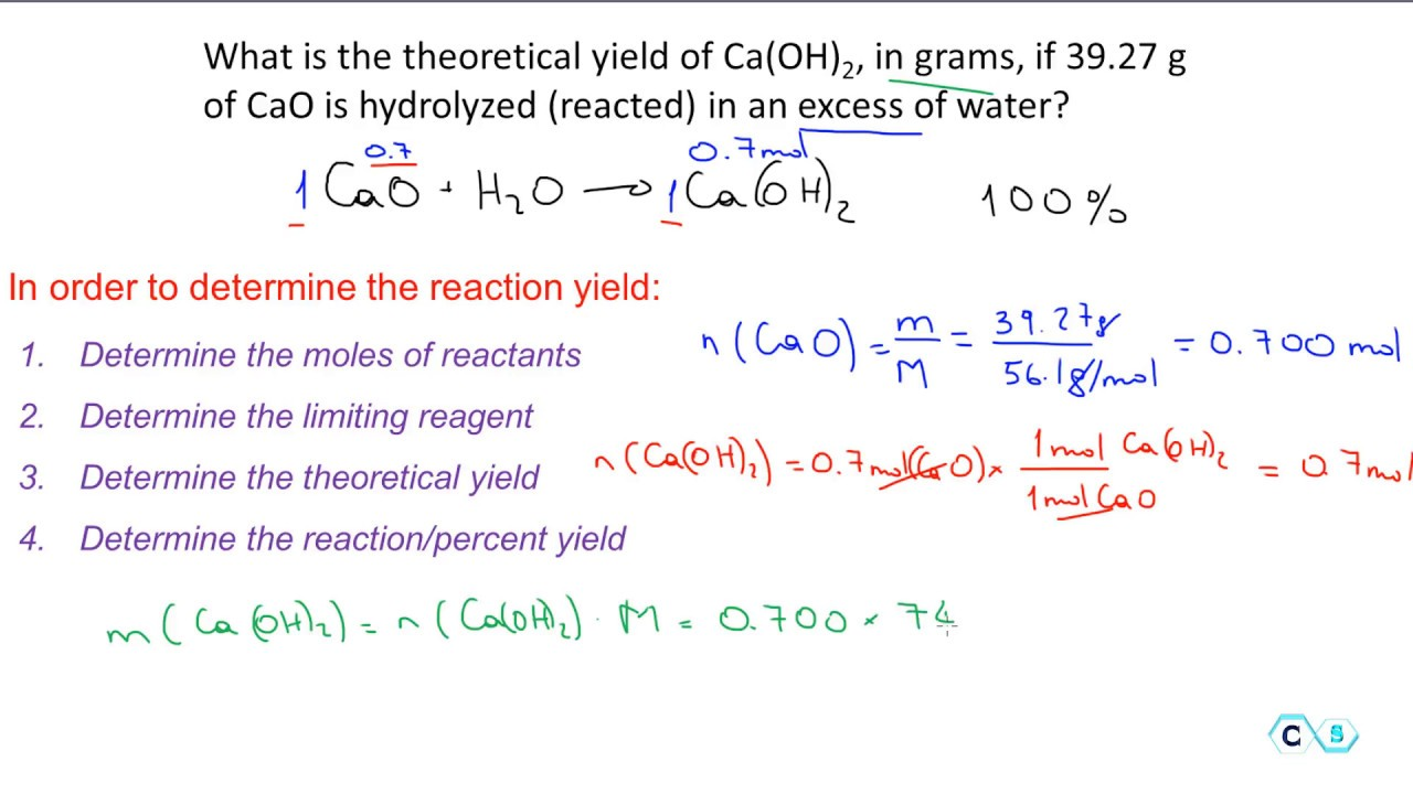 Equation For Finding Percent Yield - Tessshebaylo