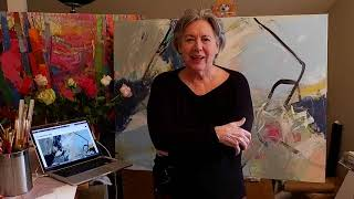 Cheryl Johnson Artist thanks Saatchi Art SOLD Painting_Studio Visit4