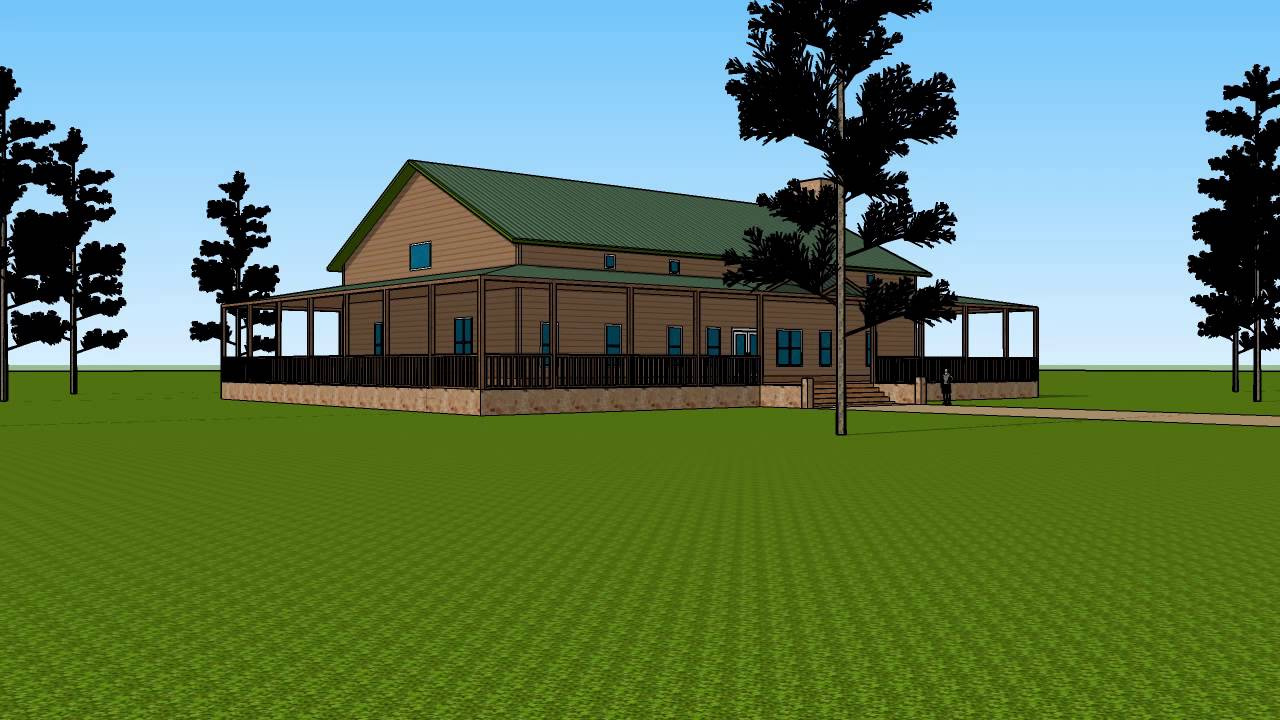 Huge Barndominium® with wrap-around porch - YouTube Huge Barndominium